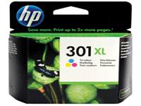 HP 301XL - High Yield - colour (cyan, magenta, yellow) - original - ink cartridge - for Deskjet 15XX, 2050A J510, 2054A J510, 25XX; Envy 45XX, 55XX; Officejet 26XX, 4634