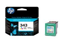 HP 343 - Colour (cyan, magenta, yellow) - original - ink cartridge - for Officejet 100, 150, 63XX, H470, K7103; PhotoSmart 25XX, 26XX, 375, 42X, C4193, C4194