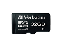 Verbatim - Flash memory card (microSDHC to SD adapter included) - 32 GB - Class 10 - microSDHC