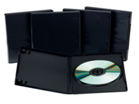 Q-Connect DVD Box. Replacement DVD storage boxes manufactured from hard wearing plastic keeping discs protected and dust free. Holds one DVD and booklet. Colour - Black.