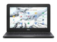 """Dell Chromebook 3100 - Celeron N4020 / 1.1 GHz - Chrome OS - 4 GB RAM - 32 GB eMMC - 11.6"""" TN touchscreen 1366 x 768 (HD) @ 60 Hz - UHD Graphics 600 - Wi-Fi, Bluetooth - black - BTS - with 1 Year Dell Collect and Return Service"""