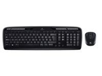 Logitech Wireless Combo MK330 - Keyboard and mouse set - wireless - 2.4 GHz - English - United Kingdom - black