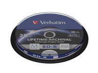Verbatim M-Disc - 10 x BD-R - 25 GB 4x - ink jet printable surface - spindle
