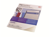 GBC PolyClearView - A4 (210 x 297 mm) - 350 micron - frosted clear, matte - 100 pcs. binding cover - for CombBind ibiMaster 250e