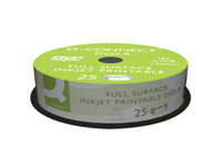 Q-Connect DVD-R the affordable choice for data backups and Video DVDs. Single-layer discs with 4.7GB of capacity for documents images etc. Features inkjet printable label surface for customisation using a compatible printer suitable to print on DVDs.