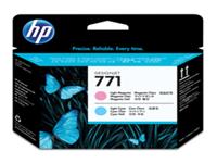 HP 771 - Light magenta, light cyan - printhead - for DesignJet Z6200, Z6600 Production Printer, Z6800 Photo Production Printer