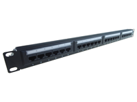 24 Port IDC Patch Panel Cat 6 With Lacing Bar