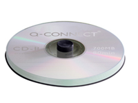 Q-Connect CD-R. Top quality 52 speed recordable CD stores up to 700MB of data or 80 minutes of audio. Suitable for use in both CD-R or CD-RW drives. Supplied in spindle packs of 50.