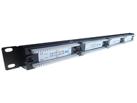 24 Port IDC Patch Panel Cat 5e rack mountable cable termination ports that allow circuits, departments, workstations etc to be conveniently identified and labelled.