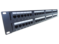 48 Port IDC 19 inch Patch Panel Cat 5e 2U Patch panels are rack mountable cable termination ports that allow circuits, departments, workstations etc to be conveniently identified and labelled.