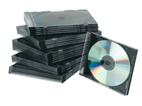 Q-Connect Slim CD Jewel Cases. Plastic, space saving cases to keep CDs safe and clean. Colour - Black.