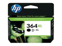 HP 364XL - High Yield - black - original - ink cartridge - for Deskjet 35XX; Photosmart 55XX, 55XX B111, 65XX, 65XX B211, 7510 C311, 7520, eStation C510