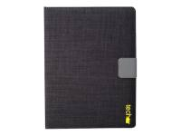 "techair Universal - Flip cover for tablet - textured polyester - black - 7"" - 8"""