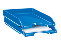 CEP Pro Gloss Letter Tray Blue 200G Will hold documents up to 24 x 32cm in size. Stackable. 100% recyclable. Size: W257 x D348 x H66mm.