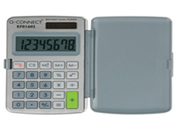 Q-Connect Compact 8 digit Dual Powered Calculator with an extra large display. Supplied complete with wallet. Dimensions - 99x58x6mm