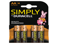 Duracell Simply Batteries - AA. Duracell quality at a more competitive price, ideal for use in most day to day devices.