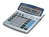Aurora Euro Calculator - D7401. Desk top calculator that features a large adjustable display for optimum viewing extra large keypad for ease of use durable hard keys for everyday heavy-duty use programmable currency converter and Set key.