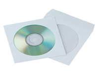 Q-Connect CD Envelopes. protective envelopes for the safe storage of CDs. Manufactured from paper with a slot in flap keeping contents free from dust etc. Colour - White/Clear.