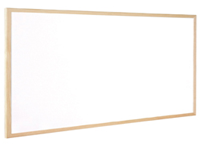Q-Connect Whiteboard. Lightweight Dry wipe whiteboard with smooth writing surface and wooden trim. Supplied complete with fixing kit. Size - 900 x 1200mm.
