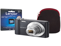 Sony DSC-W810 Digital Camera Kit with SD Card and Case. 20.1 megapixel sensor. 6x optical zoom lens. 2.7 inch LCD display. 720p HD movie recording. Optical SteadyShot keeps photos sharp. Black.