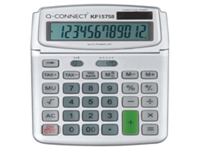 12-digit calculator. Reliable and hardwearing. VAT and tax functions. Dual power options: solar and battery. Colour: grey.