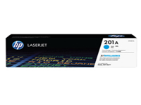 HP 201A - Cyan - original - LaserJet - toner cartridge (CF401A) - for Color LaserJet Pro M252; LaserJet Pro MFP M274, MFP M277