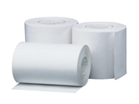 Thermal paper for use in tills. Easy to use precise printing. Rolls work smoothly in printer. Economical choice. Dimensions: 57x38x12mm. Pack of 20 rolls. Colour: White.