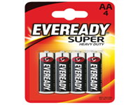 General purpose heavy duty batteries that have a significantly longer life than conventional zinc batteries. Contains no added mercury or cadmium and come guaranteed against manufacturing defects. 3 year best before date printed on all batteries. Size AA.
