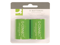 General purpose high performance Q-Connect alkaline battery. They contain no added mercury. D. Pack 2 batteries.