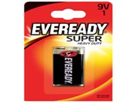 General purpose silver batteries that have a significantly longer life than conventional zinc batteries. Contains no added mercury or cadmium and come guaranteed against manufacturing defects. 3 year best before date printed on all batteries. Size 9V.