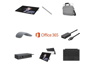 Microsoft Surface Pro 4G LTE i5, 4GB, 128GB SSD Complete Bundle - Targus Messenger Bag, Kensington Blackbelt Rugged Case, Mini DP to HDMI Adapter, Pen, Mouse, Touchcover and Dock - includes Office 365 Business License and 3 Years Complete for Business Warranty